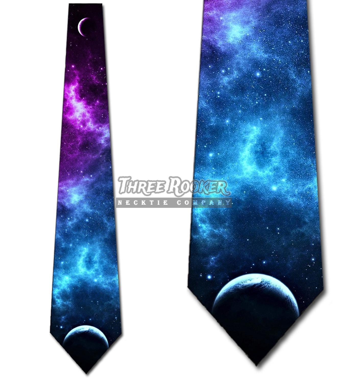 Purple Galaxy Necktie Tie Men/'s Science Space Astronomy Necktie NWT