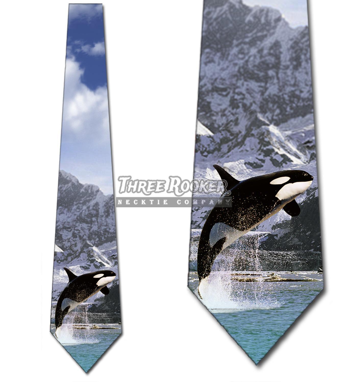 Jumping Dolphins Men/'s Necktie Ocean Sea Life Dolphin Animal Black Neck Tie