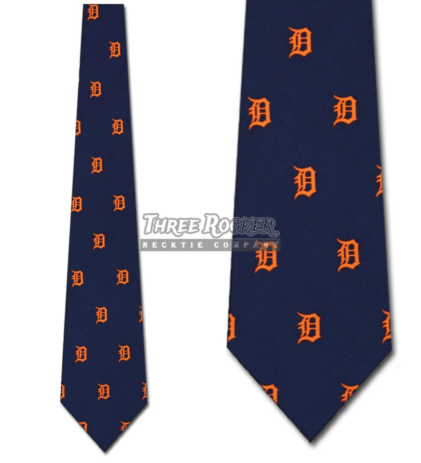 Silk Tigers Tie Mens Officially Licensed Neck Ties Detroit Tigers Neckties NWT