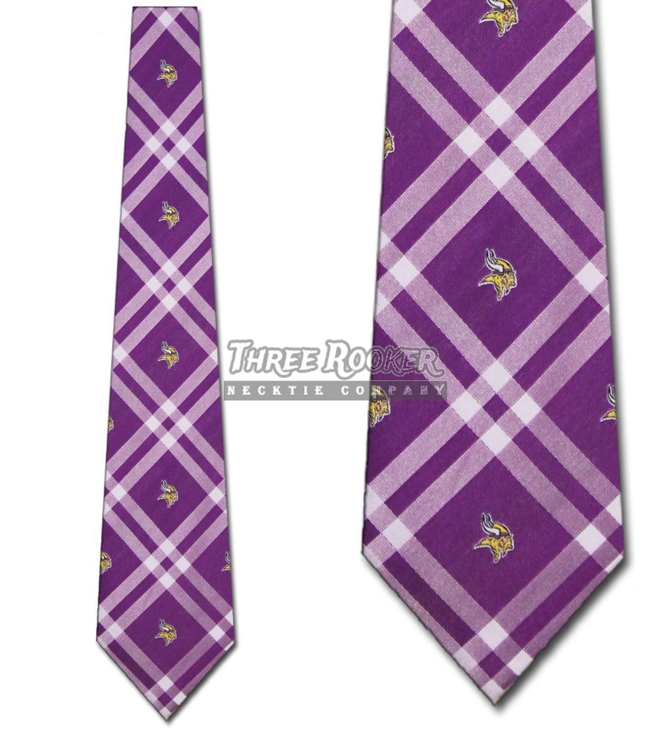 Vikings Tie Minnesota Vikings Neckties Officially Licensed Mens Neck Ties  NWT. Click here to see description. Fast Shipping b6bd21388