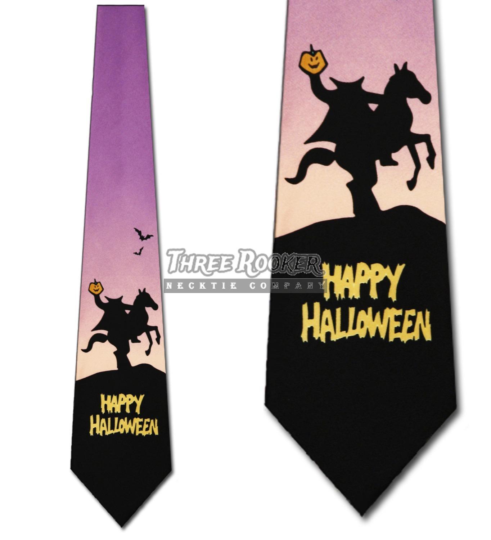 967d20eadeaf Headless Horseman Ties Halloween Neckties Horsemen Mens Holiday Neck Tie  Brand New. Click here to see description. Fast Shipping