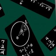 Chalkboard Repeat Black on Green Necktie