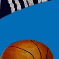 Basketball Rim Shot Navy Necktie