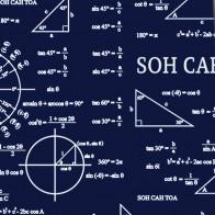 Trigonometry Equations - Navy Necktie