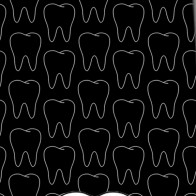 Big Tooth and Outlines - Black Necktie
